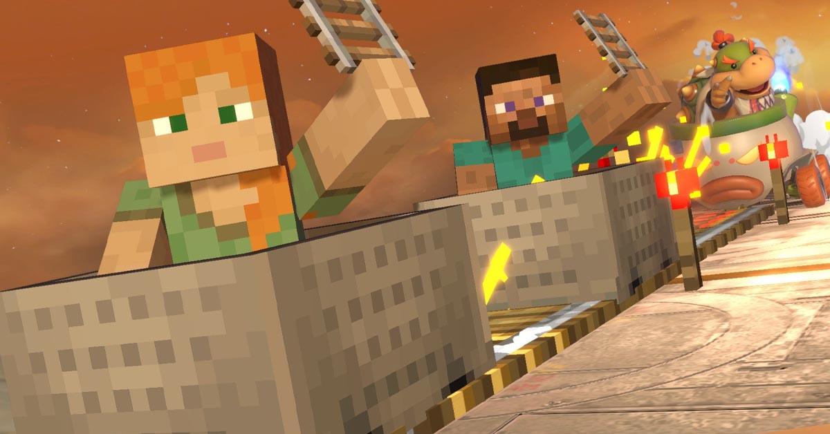 Steve Cranks Smash Bros
